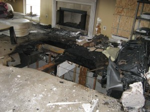 Fire damage in Sicklerville, NJ home