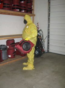 storm water damage biohazard clean up