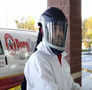 biohazard clean up in Delran, NJ requires full personal protective equipment