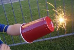 prevent burns from sparklers