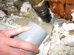 Plumbing pipe accidentally drilled during cable installation in Cherry Hill, NJ