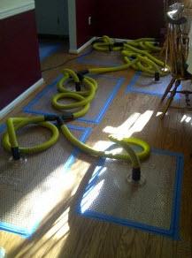 hardwood floor saved after water damage
