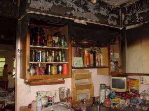 Haddonfield NJ kitchen fire damage clean up