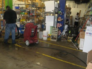 Water damage restoration at the ReStore