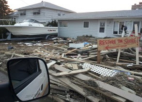 cleanup after Hurricane Sandy