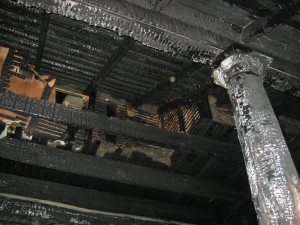 Improper removal of old paint causes porch fire