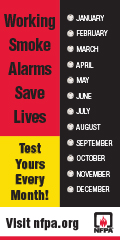check smoke alarms monthly