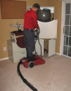 The water damage restoration process: removing water from carpets after a flood