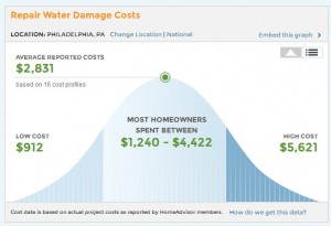 cost of water damage