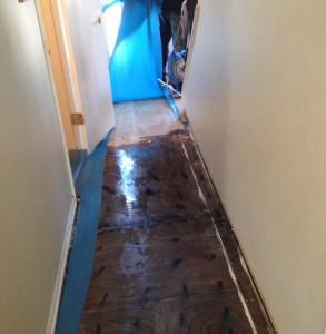 flooded hallway, Cherry Hill, NJ