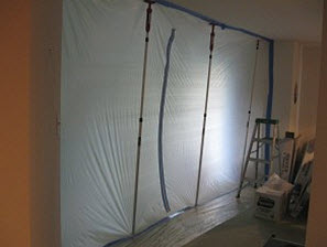 trapping mold spores with proper containment