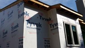 home wrap seals moisture into walls