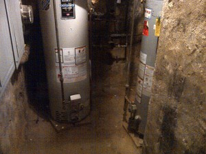 Burst water heater Chetenham PA day care center caused mold to grow