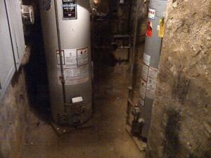 Burst water heater Chetenham PA day care center caused mold to grow