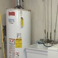 hot water heater burst