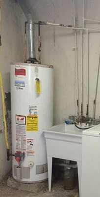 hot water heater burst