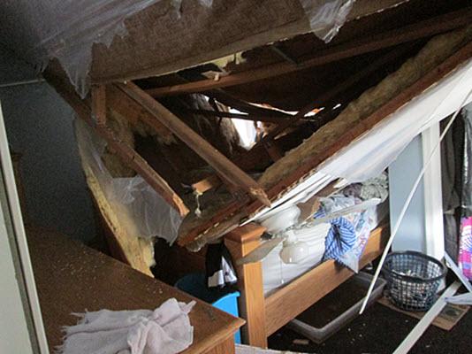 windstorm damage collapses roof in Voorhees NJ