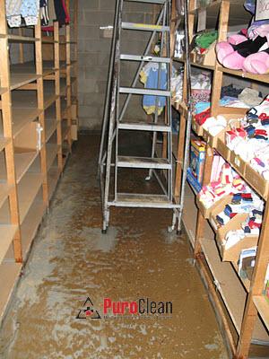 warehouse water damage from Sewage Cherry Hill, NJ