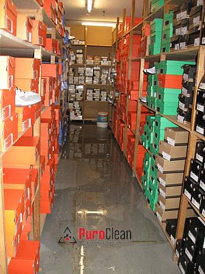 Moorestown warehouse water damage