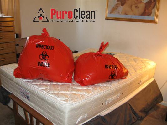 death scene cleanup disposal of biohazard materials
