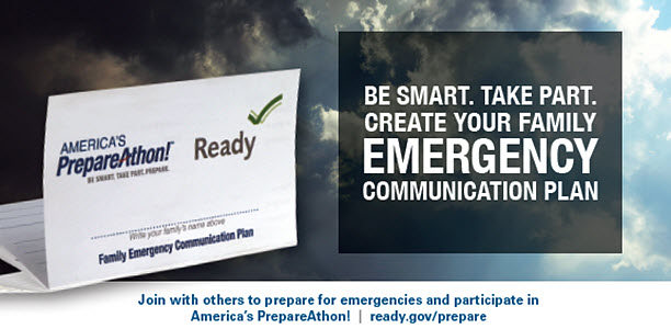 National preparedness month - emergency communication plan