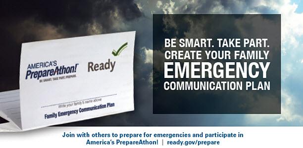 National preparedness month - emergency communication plan