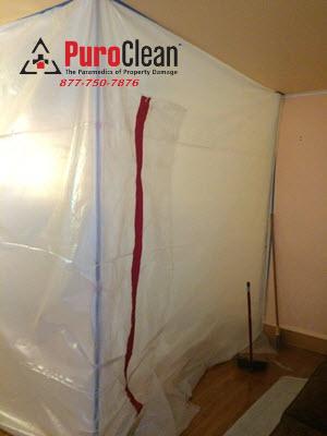 Cherry Hill, NJ: contianment prevent the spread of mold