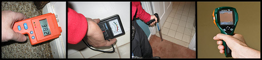 meters to measure the moisure means your property has been dried professionally
